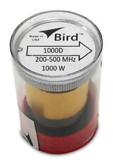Bird 43 Wattmeter Element 1000D 200-500 Mhz 1000 Watts Classic Black Top (New)