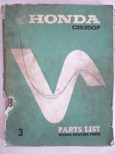 manuel pieces detachées moto HONDA CB 350 F FOUR  1972 PARTS-LIST