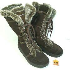 8.5 Women's Winter boots Skechers Shape Ups Brown Leather 11812  Faux Fur Lined