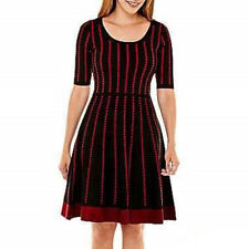 d7a2768b48e3f New Danny   Nicole Women s Fit   Flare Sweater Dress Black-Ruby Size PL