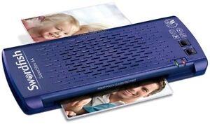Swordfish A4 Laminator Premium Super Slim Compact Jam Free Fast Warm Up - Blue