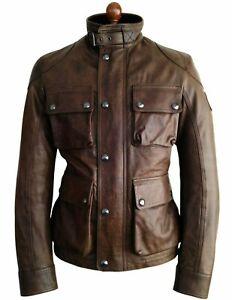 BELSTAFF LEATHER Motorcycle Biker Cafe Racer Jacket Coat Panther Icon Gangster