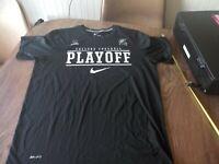 Nike Dri Fit College Football Playoff Shirt Mens XL Black Swoosh MSU Spartans