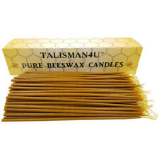 100 Natural Beeswax Taper Candles 9 Inch Scented Thin Jerusalem Church Candles