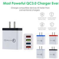4 Ports Fast QC Charge QC 3.0 USB Hub Wall Charger 3.5A Power Adapter US Plug