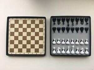 Vintage Soviet Mini Magnetic Chess set travel Road USSR