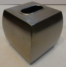 Silver Metal Curved Side Square Kleenex Tissue Decorative Box Cover