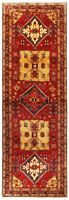 """Hand Knotted Sarab Tribal Runner Wool Red Nomadic Oriental Rug  3'9"""" x 11'7"""""""