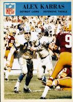 Custom made 1966 Detroit Lions Alex Karras football card white