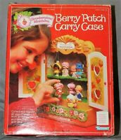 Vintage Strawberry Shortcake Berry Patch Carry Case Miniature Doll Cabinet W/Box