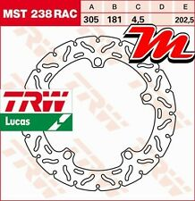 Disque de frein Avant TRW Lucas MST 238 RAC pour BMW R 1200 GS R12 2008-2012