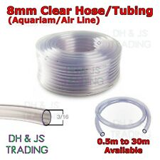 990468e6331 Clear 8mm Aquarium Tubing - Air Line Pump Fish Tank Pond PVC Hose Pipe Tube