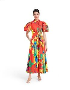 Christopher John Rogers for Target Floral Puff Sleeve Shirtdress Size 4 NWT