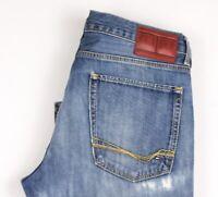 Tommy Hilfiger Hommes Droit Jambe Slim Jean Taille W34 L32 BBZ542