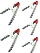SET 5 MORSETTO PINZA A MOLLA 160 mm X FISSARE BLOCCARE IN ACCIAIO PUNTE PLASTIF.