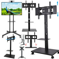 """32 42 55 65 70"""" Floor Mobile TV Stand Stable Tabletop TV Mount for Sony LG Vizio"""