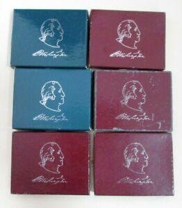 6 Count 1982 George Washington Commemorative Silver Half Dollar Lot