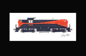 "Long Island Rail Road RS3 11""x17"" Matted Print Andy Fletcher signed"
