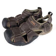 Crocs Men's Swiftwater Leather Fisherman Sport Sandals Size 8