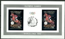 GUYANA 1992 Olympic Games BARCELONA 92 Jumping Horse Mi 3891 B x 2 Silver Imperf