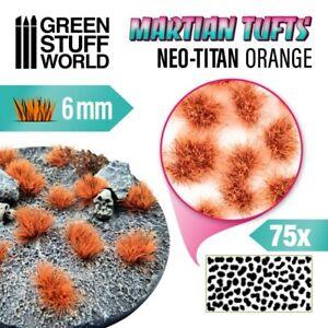 Martian Fluor Tufts - NEO-TITAN ORANGE - Scenery Miniature Basing Warhammer