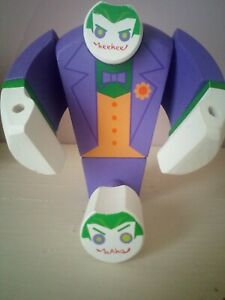 Painted Wooden DC Comics Joker Figure Interchangable Head Boxed Lootcrate