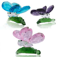 H&D Glass Butterfly Paperweight Cut Crystal Wedding Favor Ornament For Birthday
