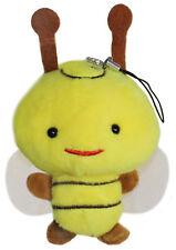 Bumblebee Bee Plush Stuffed Animal Toy Charm, Phone Decoration w/ Dust Plug