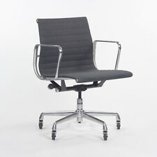 2000's Herman Miller Eames Aluminum Group Management Grey Fabric Desk Chair