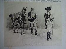 Great B/W Print - BRIGADIER GENERAL/CONTINENTAL ARMY, 1890 by G.B.