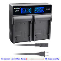 Kastar Battery LCD Rapid Dual Charger for Canon LP-E6 & Canon Grip BG-E11 BG-E9