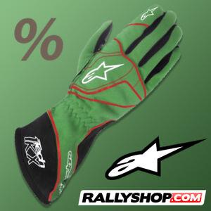 ALPINESTARS TECH 1-KX Karting Gloves 1KX GREEN Racing CLEARANCE SALE! STOCK