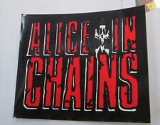 Alice In Chains Sticker Collectible Rare Vintage 1990'S Metal Window Decal