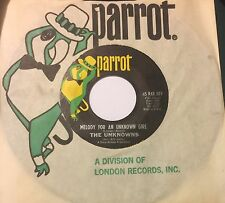 UNKNOWNS Melody For An Unknown World/Peith's Song 45 Parrot pop psych NM