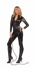 Women's Sleek & Sexy Black Bodysuit Catsuit Costume Size Small