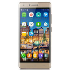 """Cheap Gold Unlocked 5"""" Android Mobile Smart Phone Dual SIM WiFi GSM 3G Quad Core"""