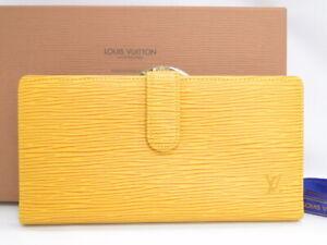 MNT LOUIS VUITTON Long Wallet Continental Viennois EPI Yellow France K441800825
