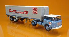 Brekina 71805 Skoda LIAZ 706 Kühlkoffer Sattelzug LKW Sovtransauto UdSSR 1 87