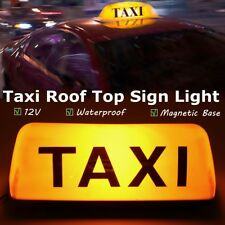 Yellow 12V Taxi Cab Sign Roof Top Topper Car Magnetic Sign Lamp Light Waterproof