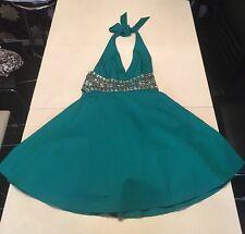 Jane Norman Green Evening Dress Built In Petticoat Size 8 (5)