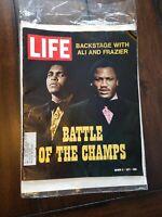 Life Magazine March 3, 1971 Muhammad Ali Joe Frazier Boxing Battle of Champions