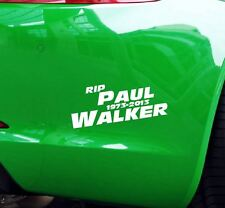 Pegatinas RIP paul walker coche JDM tuning OEM decal StickerBomb 15x6 cm blanco