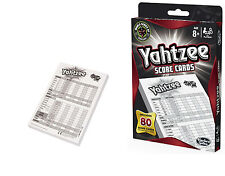 Yahtzee Score Cards: Total of 80 Cards for Yahtzee Classic by Hasbro Gaming NEW