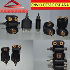 AUDIO adaptador duplicador de rca macho a rca hembra doble audio video splitter