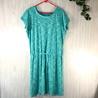 Columbia OuterSpaced Knit Dress Women's Size XL Mint Green Teal Short-Sleeved