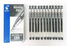 Pilot Hi-Tec-C 0.5mm Extra Fine Roller Ball Gel Pen Black 12pcs Set BLLH-20C5-B