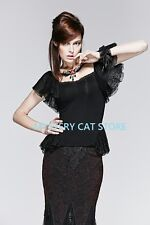 New PUNK RAVE Rock Gothic Blouse Shirt Lace Top T-391 ALL STOCK IN AUSTRALIA!