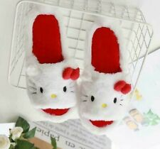 Cute Hello Kitty Girls Women Winter Warm Soft Plush Slippers Shoes US size 6-7.5