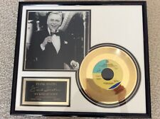 Frank Sinatra Collectible-Framed(24kt gold plated Record) picture - Pre-owned