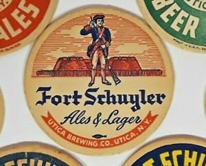 Fort Schuyler Beer & Ales Standing Soldier coaster 4 inch Free Shipping